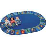 A to Z Animals Rug, 6'9 x 9'5 Oval