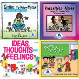 SELF Social and Emotional Learning Fun Set of 4 CDs, Guides and lyrics