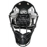 Coolflo Hockey-Style Catcher's Helmet with Plastic Shell, Meets NOCSAE Standards, fits 6 1/2 - 7, Scarlet