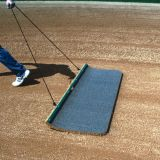 Cocoa Hand Drag Mat with Steel Lead Bar, 2'D x 4'W