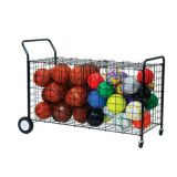 Double-Sided Ball Locker with Divided Storage, Holds up to 30 Basketballs, 59L x 24W x 37H