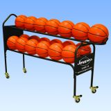 Deluxe Training Ball Rack, Holds 19 Basketballs, 44H x 18W x 61L