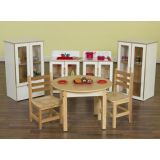 Dramatic Play Classroom Package including Appliance Set and Table and Chairs Set (12 Seat)