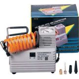 Electric air compressor, 1/8 H.P., 110 volts, A.C. current, attachments to inflate all sports balls