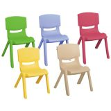 Resin Chair, 10 seat height, Set of 6