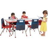 30 x 60 Heavy-Duty Adjustable Activity Rectangular Table & Six 14 Chairs