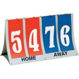 Score Board, Flip-a-score, highly visible 5 numerals, plastic frame, scores two teams up to 99