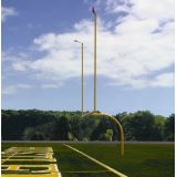Max-1 Football High School Goal, 30' Leveling Plates Uprights, Crossbar 23' 4 - 8' offset
