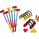 Foam Croquet Set Including 6 Mallets, 6 Balls, 9 Wickets, Stakes and Case