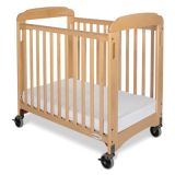 Serenity Natural Compact-Size Crib, Fixed Side with Clearview End Panels