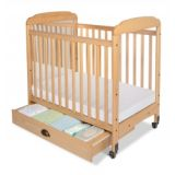 Serenity Natural Compact-Size Crib, Fixed Side with Mirror End Panels