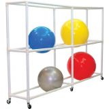 12 Ball ABS Storage Cart, 107Lx19Wx68H