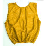 Adult Vests Football Scrimmage heavyweight mesh w/elastic waist,  gold
