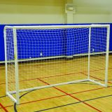 Aluminum Indoor Non-Marking Soccer Futsal Goal, 6'7H x 9'10W, Net Included
