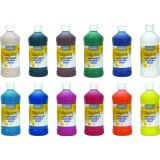Washable Tempera Paint, 16 oz 12/SET