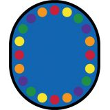 Lots Of Dots Rug, 10'9 x 13'2 Oval (20 spaces), Primary