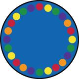 Lots Of Dots Rug, 13'2 Round (20 spaces), Primary
