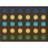 Lots Of Dots Rug, 7'8 x 10'9 Rectangle (30 spaces), Earthtone