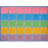 Blocks Abound Rug, Pastel 10'9 x 13'2 Rectangle (30 spaces)