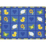 Spring Things Rug, 5'4 x 7'8 Rectangle, Blue