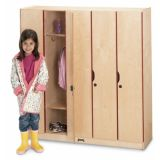 5-Section Locker with Doors, 48W x 15.5D x 50.5H