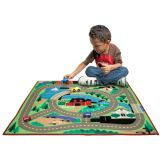 Round The Town Road Rug and Car Set