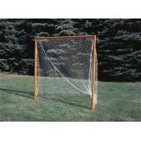 Lacrosse Deluxe Official Goals with 1/4 steel net tie rail, Orange, 6'H x 6'W x 7'D, nets not included