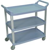 Gray Large 3-Shelf Serving Cart