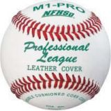 Baseball, Pro League NFHS Approved, premium leather cover, double cushioned center, yarn winding, 12-pk
