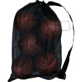 Small Mesh All Purpose Bags with drawstring & heavy carrying strap. 24 x 36, black