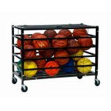 All Pro Ball Locker with Lockable Top, Holds up to 30 Balls, 1 Steel Tubing, Heavy Duty Casters, 47L x 24W x 37H