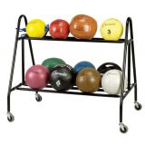 Medicine Ball Storage Cart, Holds 14 Balls, 28Lx44Wx40H
