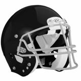 Youth Momentum Plus Helmet with Unattached Faceguard, Black, Size Extra-Large