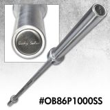 Olympic Bar, 7Ft, Stainless Steel, 1000Lb Capacity - 30mm Grip