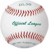 Baseball official league, leather cover, cork/rubber core, yarn winding, 12-pk