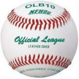 Baseball, official league, leather cover, double cushioned center, yarn winding, 12-pk