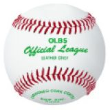 Baseball official league, genuine leather cover, cushioned center, raised seams, 12-pk