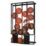 Stackmaster Double Basketball/Volleyball Wall Storage Rack, holds up to 16 Basketballs, 66H x 37W x 12L