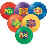 Playground Balls, set of 6 - 8.5 diam. colored balls, 1 of each color