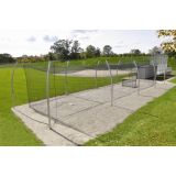 Professional Outdoor Batting Tunnel Frame for 12' and 14' nets, 12'H x 70'L, Including Sleeves