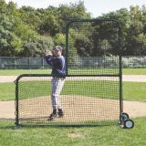 Collegiate Pitcher's Safety Protector, L-Complete Screen, 7' x 7'