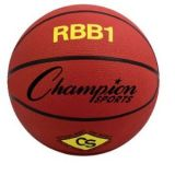Pro Rubber Basketball, Official Size 7, Red