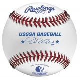 Rawlings' USSSA Tournament Grade Baseball with Full-Grain Leather Cover & Cushioned Cork Center, dozen