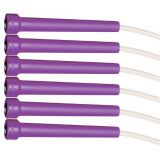 10' Rhino® High Performance Licorice Speed Rope Set of 6, Purple Handle