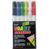 Uni-Paint Marker Set, Assorted Set of 12, Fine Point