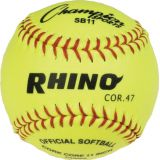 11 Syntex Leather Cover Softball with .47 Cork Core, 1 Dozen