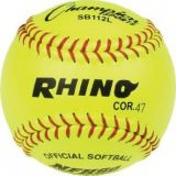 12 Leather Cover Softball with .47 Cork Core, 1 Dozen