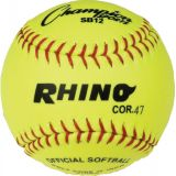12 Syntex Leather Cover Softball with .47 Cork Core, 1 Dozen