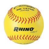 11 Leather Cover Softball with .47 Poly Core, 1 Dozen