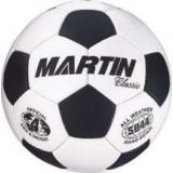 Soccer Balls, classic, hand sewn, PU leather, butyl bladder, official size 4, black/white